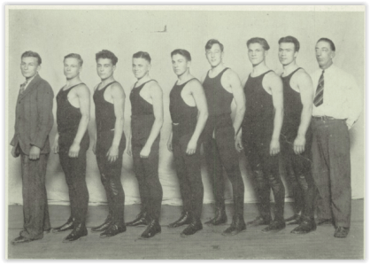 1928 Bethlehem Wrestling Squad (Courtesy of Bethlehem H.S. Yearbook)