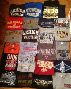 Part of Dick's Wrestling T-Shirt Collection (Photo Courtesy of Rich King)