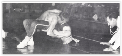 Dave Wall Has Tom Schleicher in Trouble (Photo Courtesy of Northampton H.S. Yearbook)
