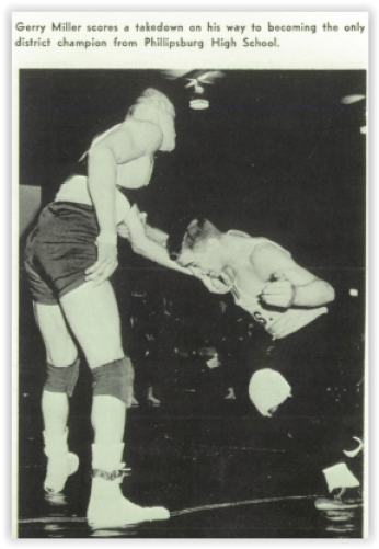 District Champ, Gerry Miller (Photo Courtesy of Phillipsburg H.S. Yearbook)