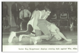 Burgstresser & Christman Battle to a Draw (Photo Courtesy of Phillipsburg H.S. Yearbook)