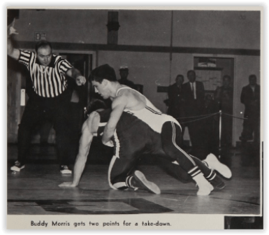 Buddy Morris Claimed at NJ State Title (Photo Courtesy of Phillipsburg H.S. Yearbook)