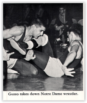 Bob Guzzo Scores Another Takedown (Photo Courtesy of Wilson H.S. Yearbook)