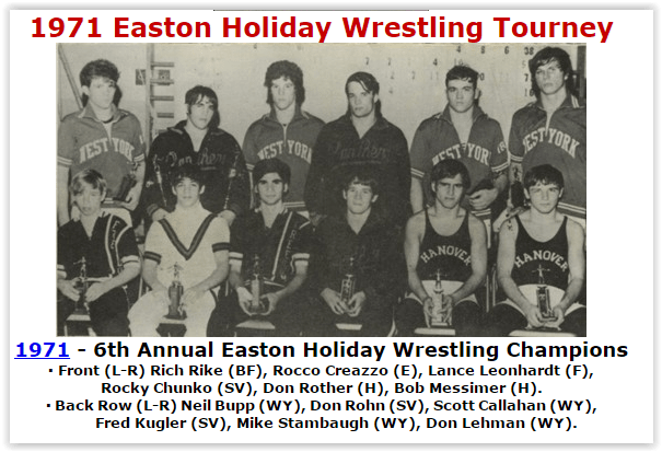 Easton Holiday Wrestling Tourney