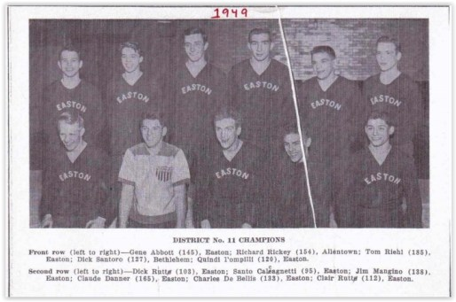 1949 District XI Wrestling Champs