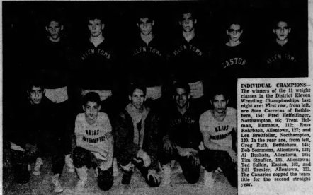 1957 District XI Wrestling Champs