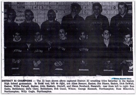1962 District XI Wrestling Champs