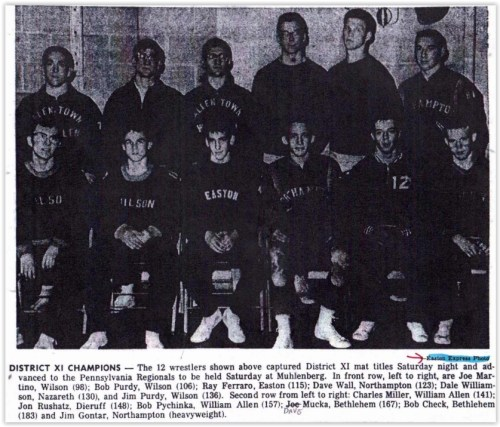1963 District XI Wrestling Champs