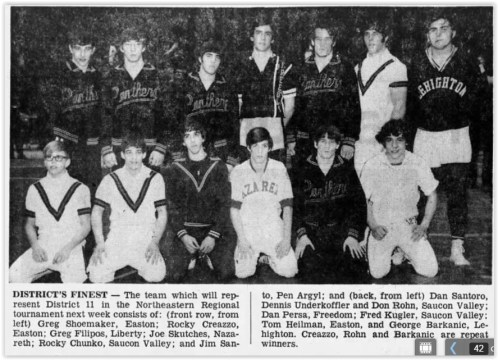 1972 District XI Wrestling Champs