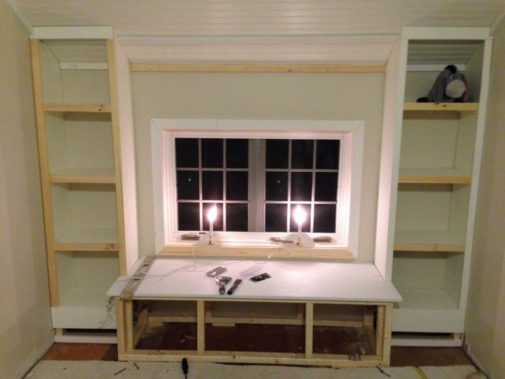 Diy How To Build A Window Seat And Built In Bookcases