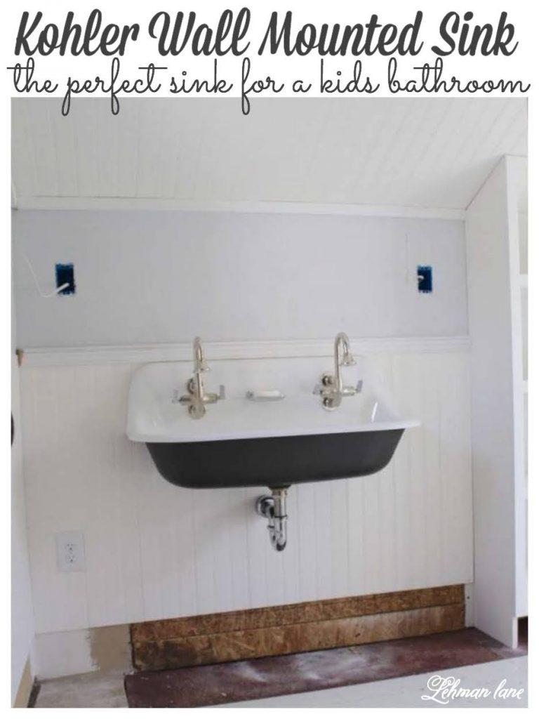 wall mounted kohler brockway sink