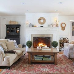 Living Room Mantel Decor Dark Blue Walls Ideas Winter Lehman Lane And Fireplace