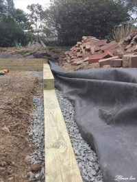 Building a Wood Retaining Wall - Lehman Lane