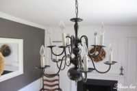 An Easy Chandelier Makeover with Spray Paint - Lehman Lane