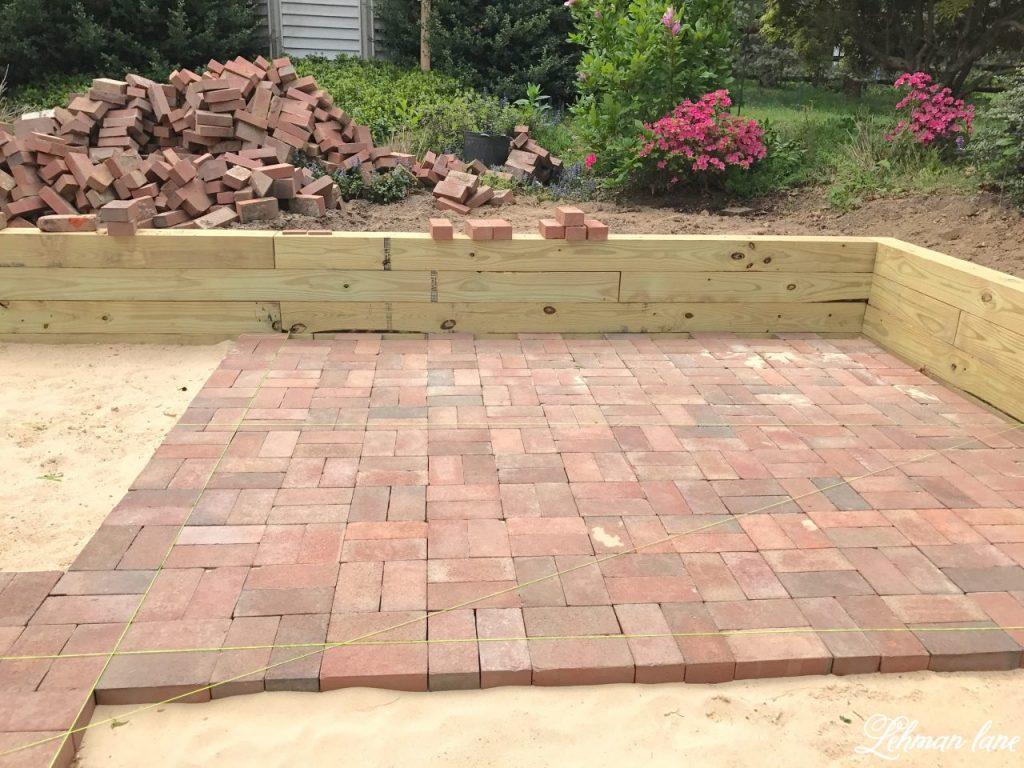 DIY Brick Patio  Lehman Lane