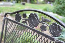 Spray Paint Patio Furniture - Vintage Wrought Iron