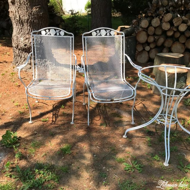 spray paint patio furniture - our vintage wrought iron patio set