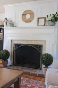 Summer Mantel Decor for our Farmhouse - Lehman Lane