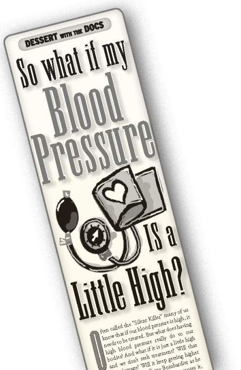 Blood pressure newspaper ad