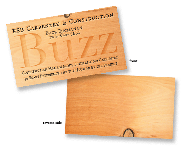 Business cards for contractor