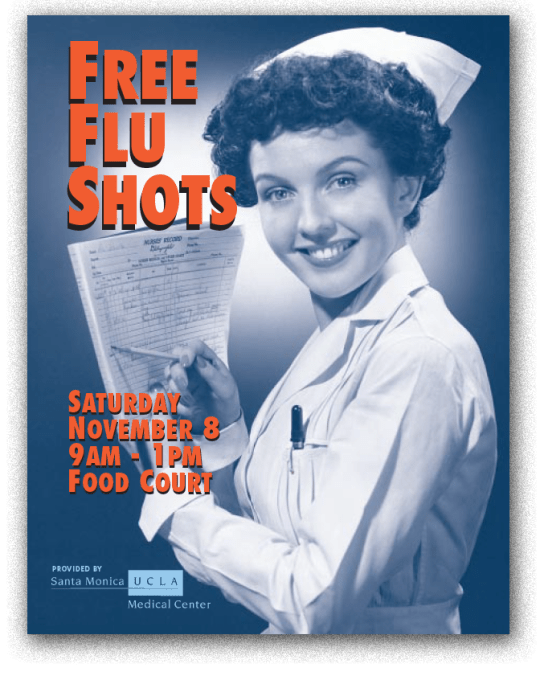 Flu shot poster (Mousetrap Advertising and Design)