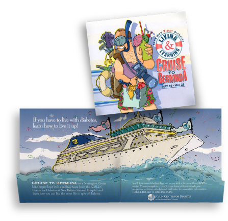 Diabetes Cruise die-cut brochure (Mousetrap Advertising and Design)