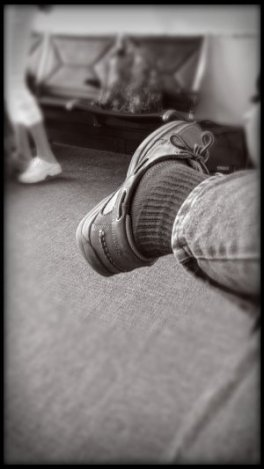 I was so bored waiting at the airport I photographed my shoe.