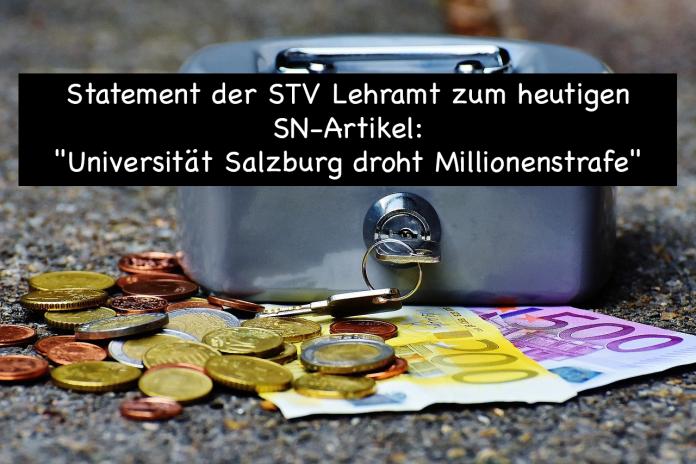 """Statement zu """"Universität Salzburg droht Millionenstrafe"""""""