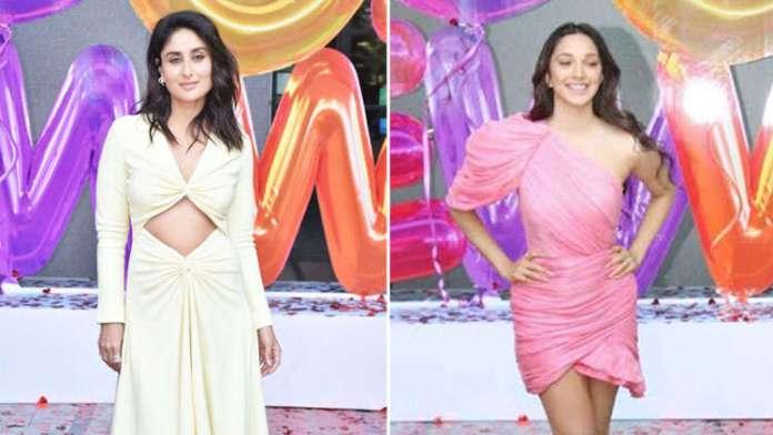 Trailer Launch of Good Newwz Kareena Kapoor Khan in yellow Dion Lee VS Kiara Advani in pink mini