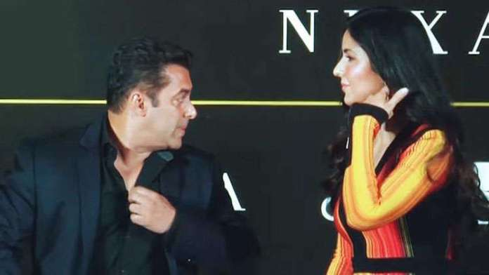 Salman Khan asks Katrina Kaif to cover up her cleavage!