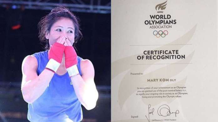 Mary Kom thanks World Olympian Association for 'OLY' title