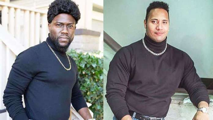 Kevin Hart hilariously mocks frenemy Dwayne Johnson with his Halloween costume!