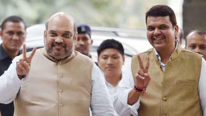 Maharashtra chief minister Devendra Fadnavis meets Amit Shah in Delhi