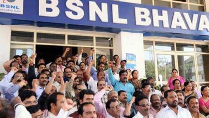 BSNL employees to go on hunger strike on Monday over delay in relief package