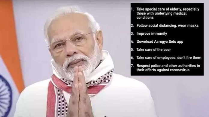 Covid-19: What seven points has PM Modi urged Indians to follow during extended lockdown?