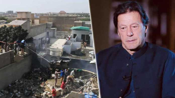 Pakistan PM Imran Khan reacts after PIA flight PK 8303 crashes near Karachi Airport