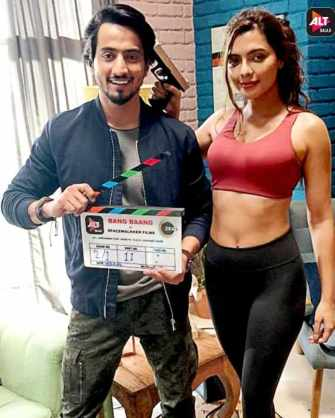 Mr. Faisu And Ruhi Singh Commences Shooting For Their Web Series Bang Baang