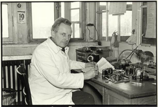 Oskar Barnack at his workbench