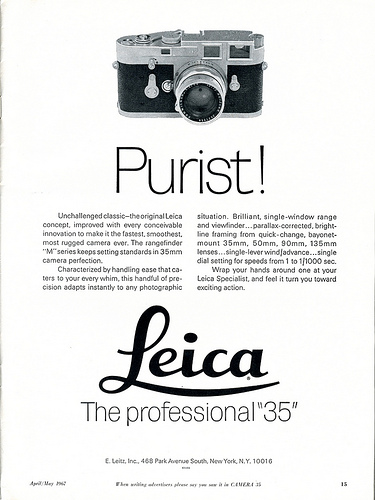27 Purist! Leica The professional 35 - 1967