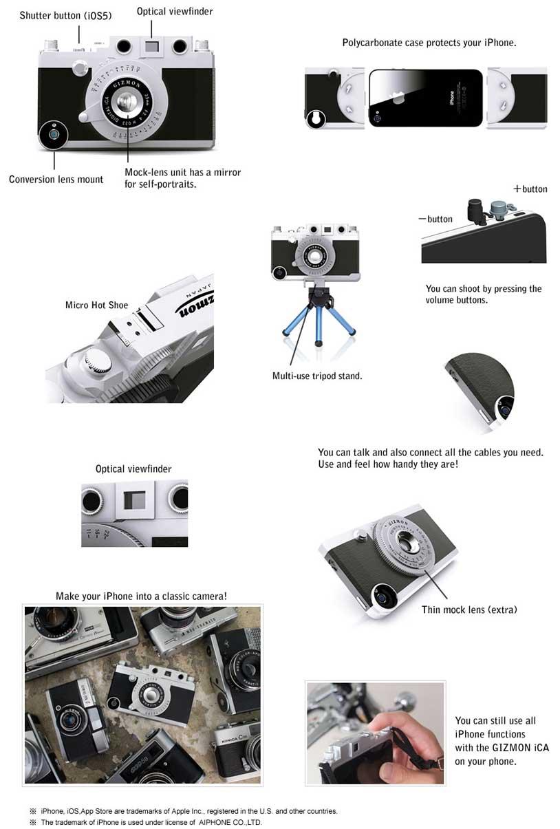 Gizmon ica iPhone case Gizmon iCA: a Leica inspired case for iPhone 4/4s