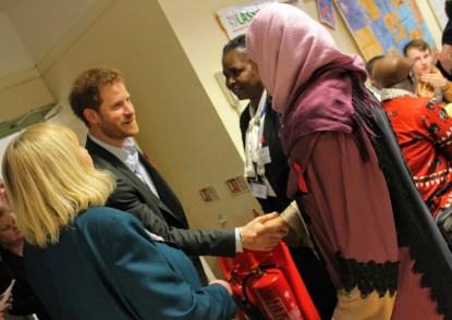 CEO Jenny Hand introduces HRH Prince Harry to Sadiya Mohamed & Juliet Kisob