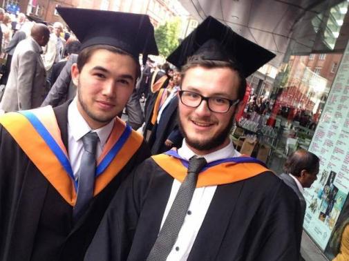 Conor (right) at graduation