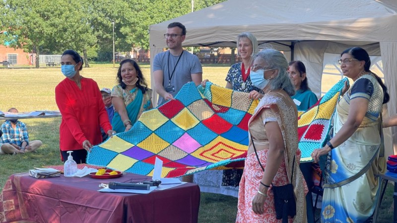 Knit and Natter Blankets – Communities Coming Together On Zoom