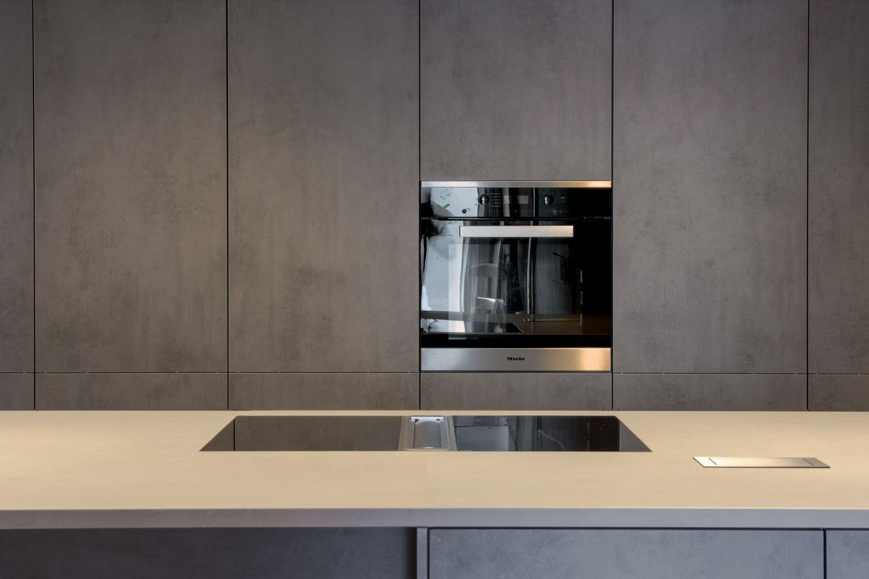 leicht kchen programm ikono i synthia beton miele. Black Bedroom Furniture Sets. Home Design Ideas