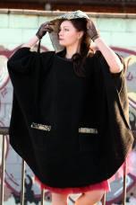 Maxi black cape