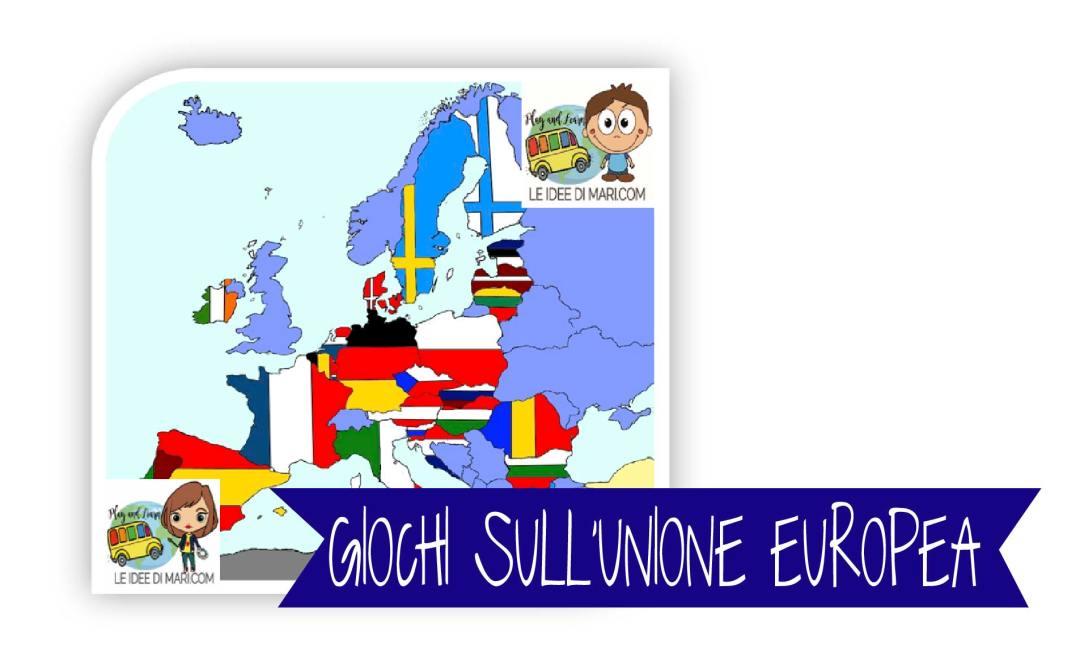 Playandlearn,unione europea, attività, gioco con le bandiere, geografia scuola primaria, Imparare giocando, giocare