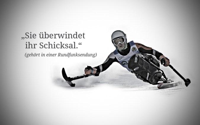 """Anna Schaffelhuber: """"Ich sehe die Behinderung definitiv nicht als Schicksal. Schicksal ist für mich negativ behaftet. Der Rollstuhl ist für mich absolut normal und selbstverständlich. Deshalb gibt's auch nichts zu überwinden. Das Skifahren ist meine Leidenschaft und nichts anderes."""""""