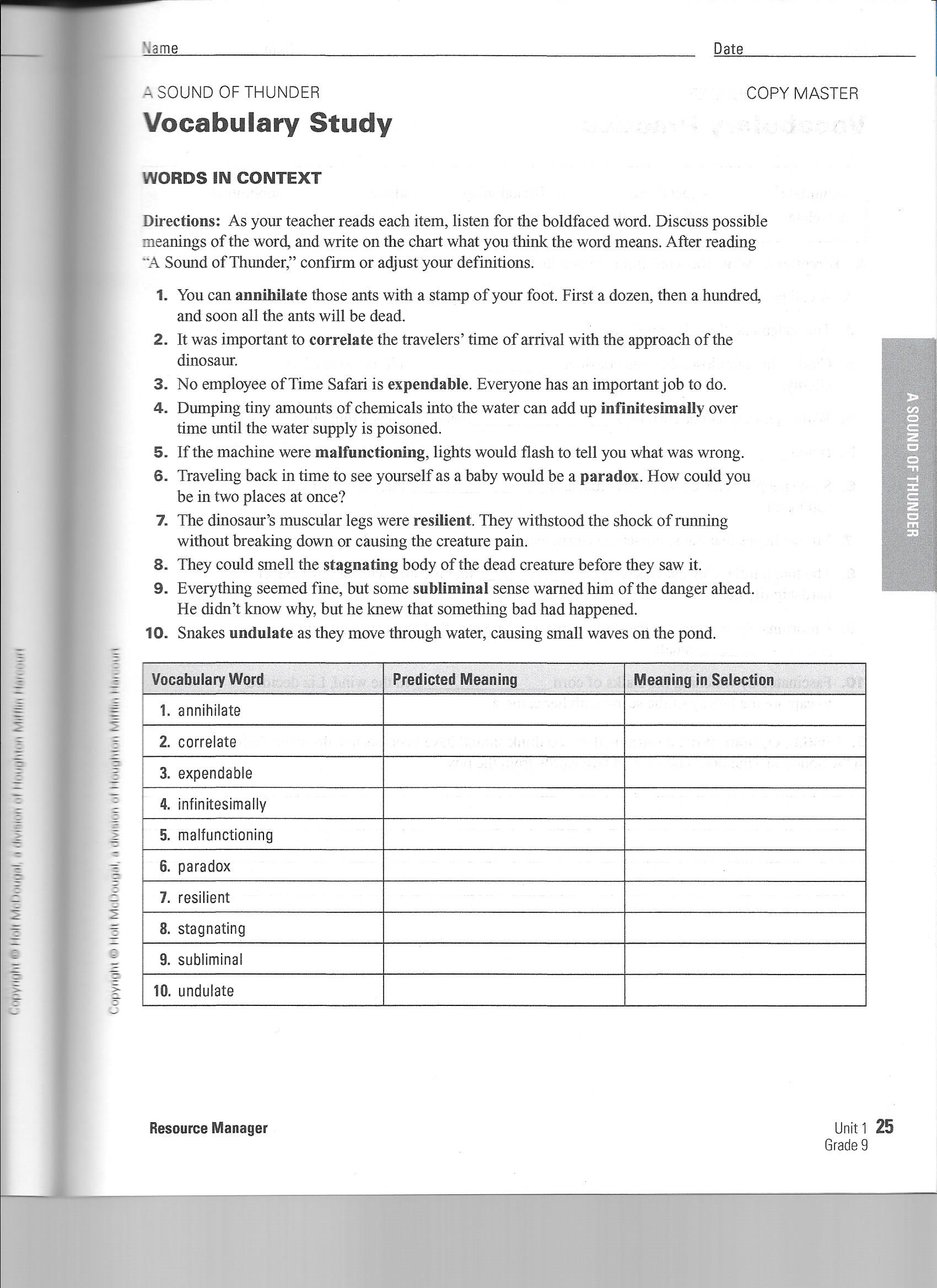 The Most Dangerous Game Worksheet Answers