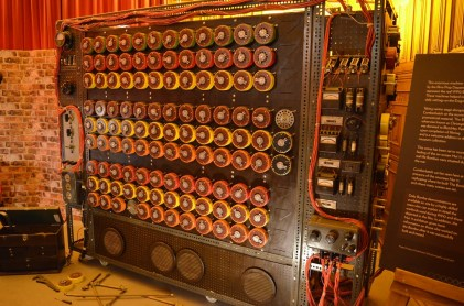 Bombe (or an electro-mechanical device used by British cryptologists) from Imitation Game