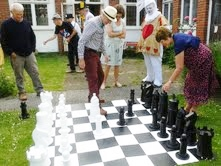 Garden Chess at Mad Hatters Tea Party